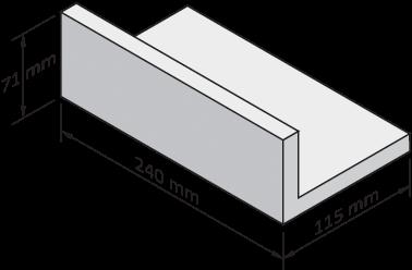 Płytka klinkierowa kątowa do nadproży o głębokości 115mm