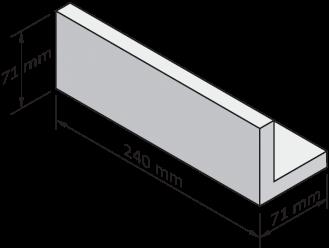 Płytka klinkierowa kątowa do nadproży o głębokości 71mm